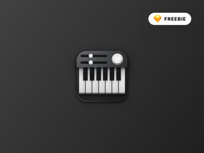 Skeuomorphic Piano Icon