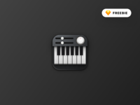 Skeuomorphic Piano Icon