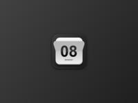 Skeuomorphic Calendar Icon