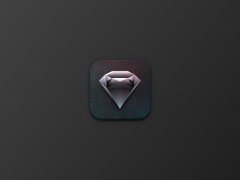 Skeuomorphic Diamond Icon skeuomorphic gem icon vector illustration logo texture 3d sketch diamond
