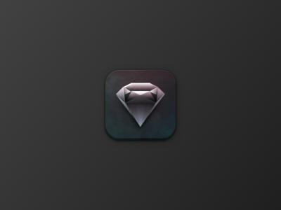 Skeuomorphic Diamond Icon