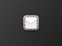 Skeuomorphic Mail Icon