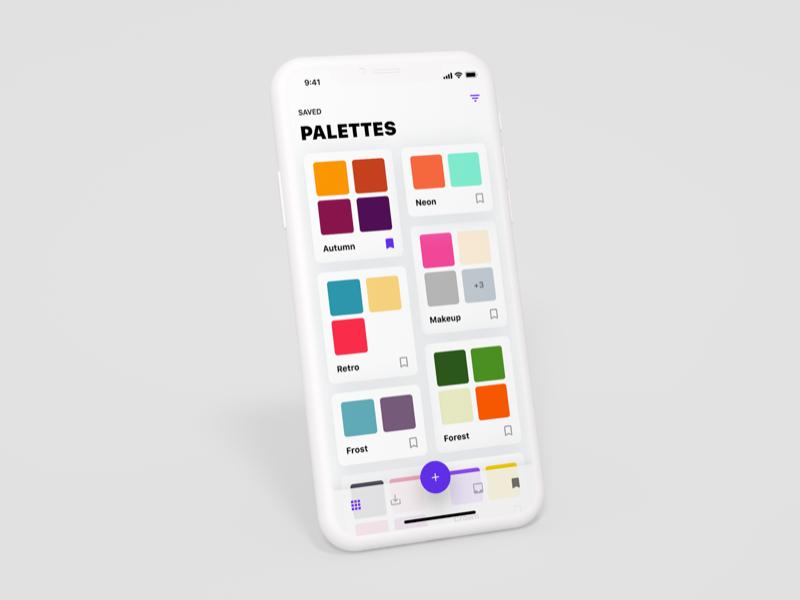Color Palette Saver interface ui app x iphone ios palette hunt colour color