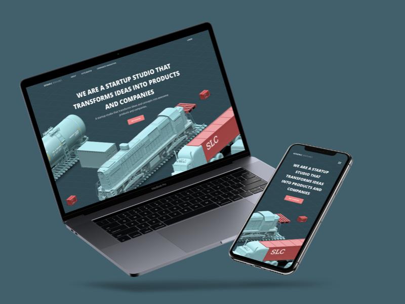 Coming Soon Page 3D Render Concept mockup responsive website web illustration model 3d parking soon coming