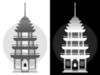 Pagoda Illustration (WIP)