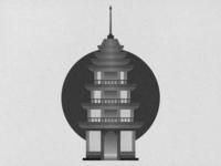 Grain Texture Pagoda
