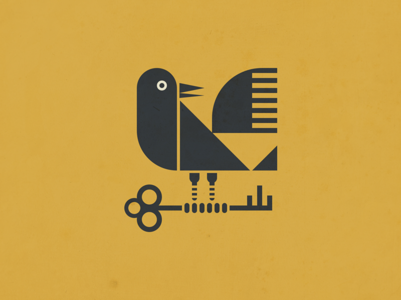 Geometric Crow Illustration branding vector logo icon flat illustration raven illustrator tattoo dark brid crow