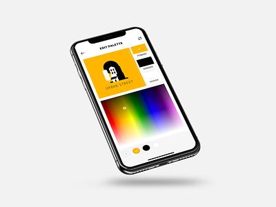 More Mobile Colour Picker Explorations scheme photo chroma brightness bright saturation hue gradient flat export editor edit picker colour picker colour palette colour color ios apple app