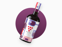 Conceptual Modern Wine Bottle Label