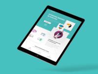 esponsive Tablet Landing Page Design –Continued