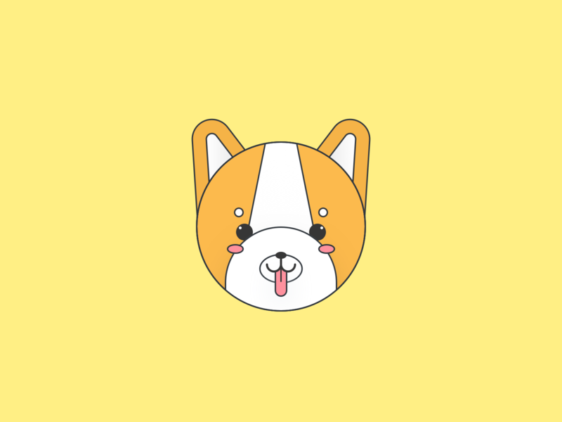 Cute Shiba Inu Illustration puppies line mascot character mascot vector minimal flat illustration illlustrator dog corgi shiba inu shiba cute