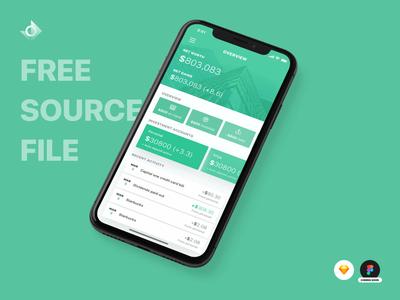 iPhone X Finance App Source File