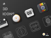 3D Skeuomorphic Icons Premium Pack