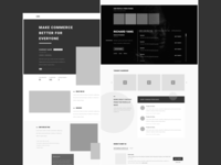 Startup Profile Page Wireframe