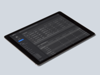 iPad Dark Theme Dashboard Concept