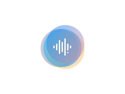 New Auspre Logo scribr icon vector minimal rainbow logo brand podcast logo podcast audiobooks soundwave sound text audio machine learning transcription ai recognition speech auspre