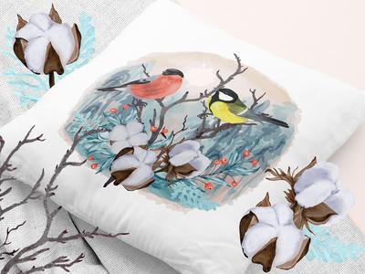 Winter Birds on branch