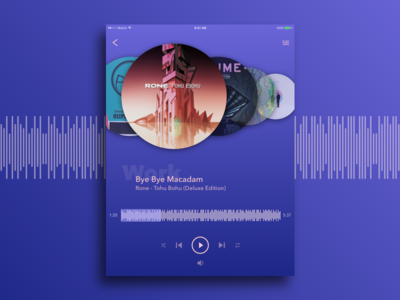 Daily UI #009 Music Player for iPad