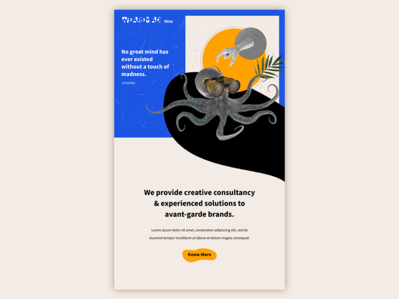 Surreal Landing Page Concept