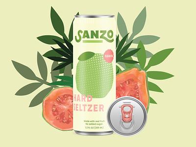 Skinny Fruit Beverage Can Illustration Design seltzer design skinny can can beverage design can design illustration design illustration mock up graphic design design