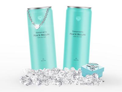 Elegant Skinny Beverage Can Design Mockup seltzer design seltzer can design mock up branding graphic design beverage design design