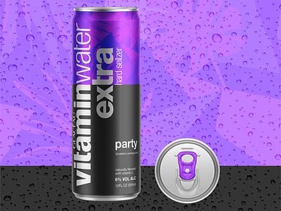 Vitamin Water Seltzer Can Design seltzer design seltzer can design beverage design branding mock up graphic design design