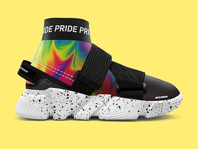Modern Fashion Shoe Pride Design pride design pride fashion shoe design shoe mock up graphic design design