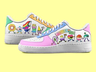 Casual Shoe Pride-Themed Design pride design pride shoe shoe design mock up graphic design design