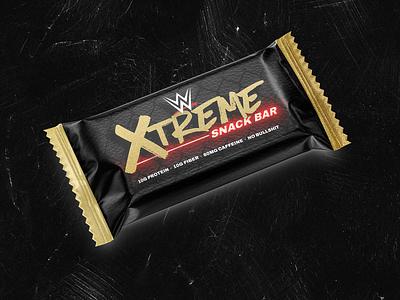 WWE Snack Bar Design Mockup packaging wwe design candy bar snack bar package design branding design contest graphic design design