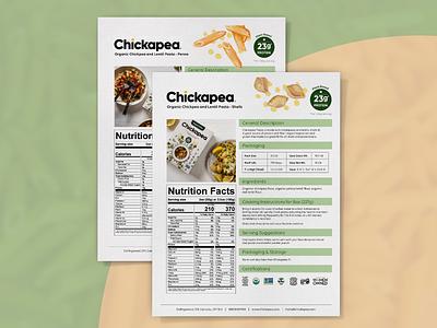 Food Nutritional Information Sheet Design flyer design info sheet product info sell sheet graphic design design