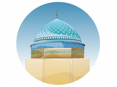 roknodin mosque iran design vector yazd mosque
