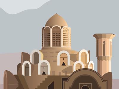 Borujerdi House - Kashan house borujerdi kashan illustration vector poster irani design iran