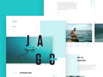 JAGO - One page design