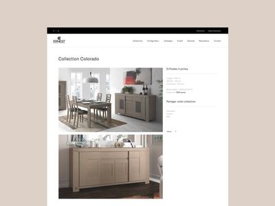 Ernest Ménard - Collection web ux ui responsive minimal layout interface interaction design clean