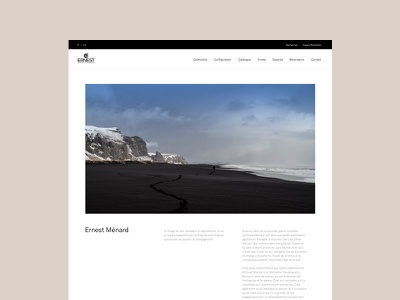 Ernest Ménard - About web ux ui responsive minimal layout interface interaction design clean