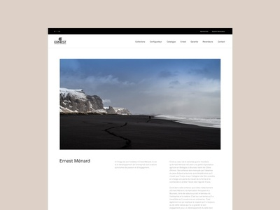 Ernest Ménard - About web ux ui responsive minimal layout interface interaction design clean