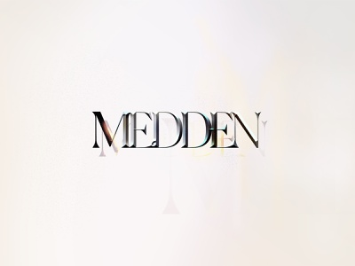 Medden - type exploration embossing embossed artworked artwork photoshop visual art visual ui design