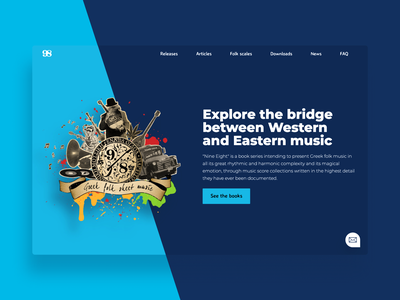 Nine Eight Website Redesign collage nine eight music blue landing page landing homepage