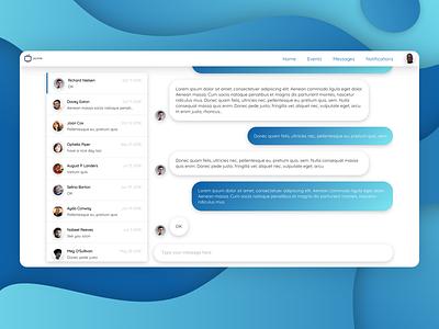 Messages section message app conversations social platform chat messages