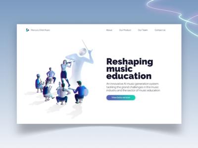 Mercury Orbit Music landing page (light version)