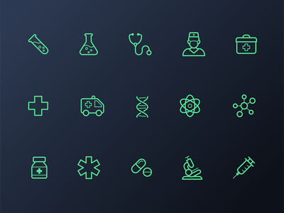 Medical Icons dna medicine doctor medical icon design icons