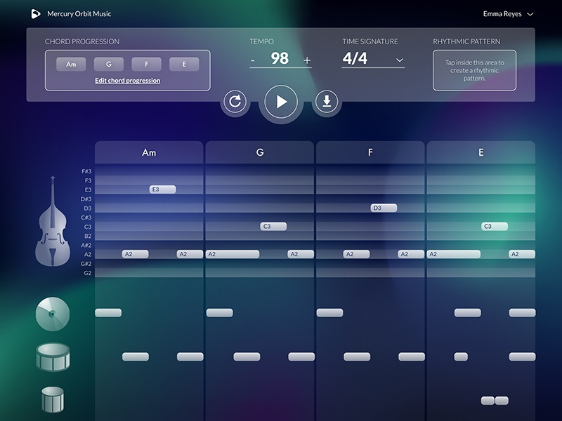 Rhythm Generator by Dimitris Chatzilias on Dribbble