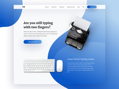 Typing practise homepage keyboard gradients vintage typewritter homepage