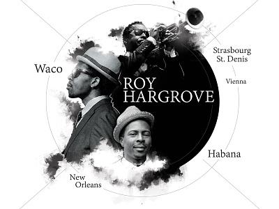 Roy Hargrove black  white music poster photoshop illustrator jazz