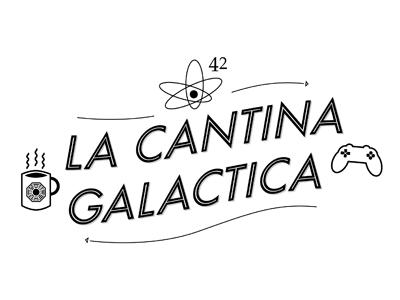 La cantina galactica illustrator logo