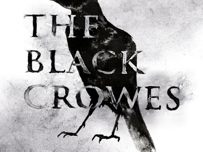 The Black Crowes traditional black ink music poster