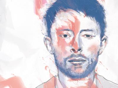 No Alarm No Surprises radiohead portrait pencil photoshop music digital painting thom yorke