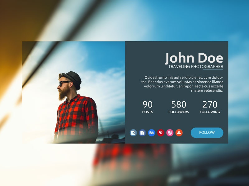 Day 6 Profile dailyui06 dailyui006 dailyui