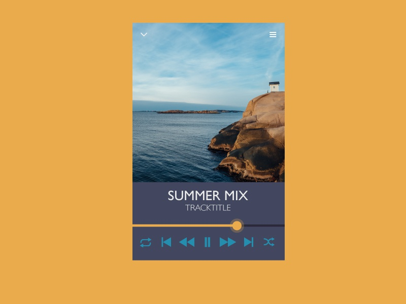 Daily UI day 009 Music player dailyui009 dailyui