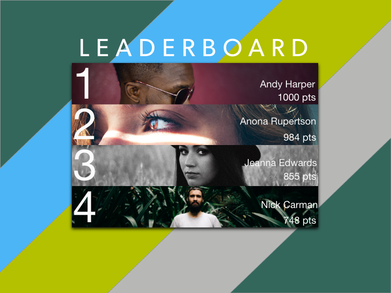 Daily UI Challenge day 19 Leaderboard  leaderboard ui ux uxdesign daily19 dailyui019 dailyui